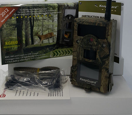 Email / GPRS / GSM Game Camera , Action Infrared Hunting Camera SMS Inversion Control