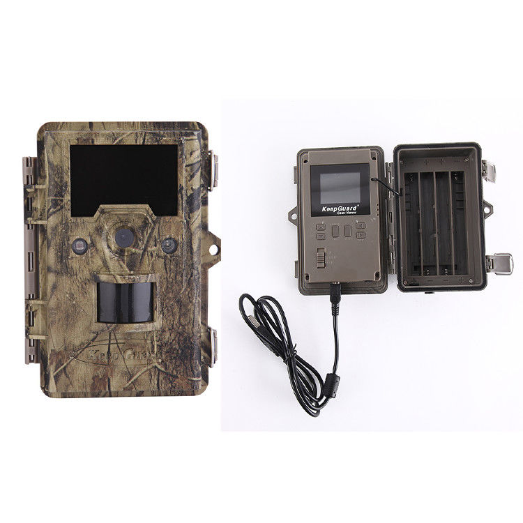 Camouflage Infrared Trail Camera / Waterproof Trigger Deer Game Camera 720P Trail Camera With 36 LED